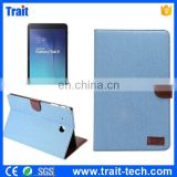 Factory Sales Jeans Cloth Wallet Style Magnetic Flip Stand PC+PU Case for Samsung Galaxy Tab E 9.6 T560