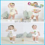 Elinfant whosale baby short sleeve clothes organic cotton romper