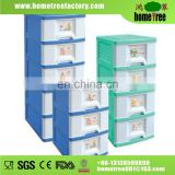 New Product 4 Layers Cheap Cartoon Printing Storage Baby Plastic Wardrobe
