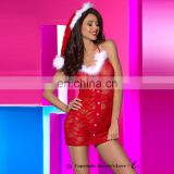 New beautyslove sexxy wholesale fancy Christmas dress,Sexy Christmas lingerie , Red lace women Sexy costume Christmas