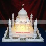 White Marble Taj Mahal Replicas, Decorative Marble Taj Mahal With Lighting Exporter