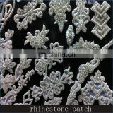 Wholesale High Style Elegant Design Bridal Sash Applique Crystal Embellishments Rhinestone Applique for Sash