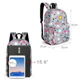 Colorful printed light weight stable lovely smile face bags school kids