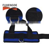 Durable and Lightweight  Premium Nylon Webbing and Neoprene Ankle Straps for Cable Machines