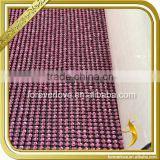 Rose Red Glass Bead Sheets Hot Fix Crystal Sheets with Glue Wholesale FRM-173