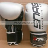 LBG-1007 Custom Made Genuine Cowhide Leather Silver Boxing Gloves