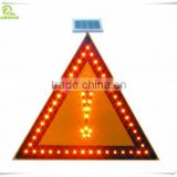 Hot sale aluminum LED solar triangle traffic warning sign board