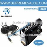 Professional hd 2 CH car accident recording camera/car DVR for cars and taxis