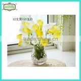 Hot sell 35cm mini pu real touch calla lilies wholesale