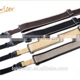 Simple Design Fashon Adjustable Length Cotton Material Guitar Shoulder Belt/Strap with Buckle