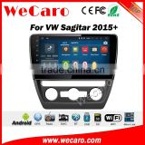 Wecaro WC-VS1021 10.2 inch android 4.4/5.1 car navigation system for vw Sagitar car dvd 2015 2016 With Wifi and 3G GPS Radio RDS