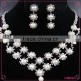 2016 beads jewelry set bridal diamond beads exquisite necklace earring set                                                                                                         Supplier's Choice