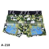 100% Polyester Custom Full Camouflage Motorcycle Printing Boxer Short for Boys to Wear