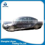 LDPE/HDPE disposable clear plastic car cover with elastic band