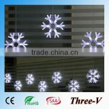8pcs 25cm big star/16cm snowflake led Christmas lights holiday home ceiling window door tree decoration lights