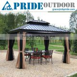 Chinese Style Gazebo Tent With Mosquito Net Green Waterproof Outdoor Metal Gazebos Canopy                                                                         Quality Choice