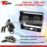 TOPFAME CMD-1000 2 lens car camera double lens truck rearview camera, two lens camera, twin lens camera with night vision