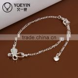 2014 Butterfly shape silver charm fashion body chain jewelry wholesale