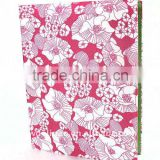 Color Flowers Weaving Cloth Wrapping Ring Binder Desktop File Folder for Office Stationery Cardboard A4 or FC Size