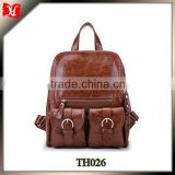 Wholesale girls leather backpack bags korean style backpack