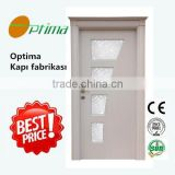 Jiangshan Optima cheapest wholesale turkey mdf wooden pvc glass door                                                                                                         Supplier's Choice