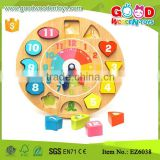 Whats The Time Game Wooden Clock Puzzle Teaching toy for children