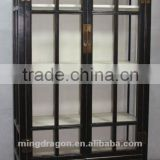 Chinese antique furniture Beijing modern glass pine wood Black Two Drawer Two Door Cabinet