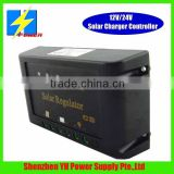 12v/24v 15A PWM solar charge controller price for online and offline solar system solar street lighting