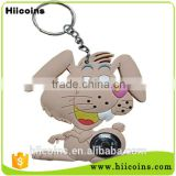 Factory Direct Selling rubber keychain keychain wholesale and custom animal keychain
