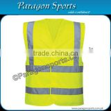 Hi-vis Safety Vest with Reflective Tape Safety Vest in Fluorescent yellow Color