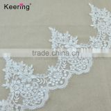 Polyester bridal lace trim with cross and sequins wholesale WTPA-038                                                                                                         Supplier's Choice