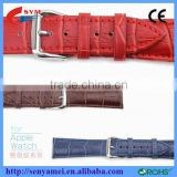 For Apple Watch Band Strap Real Leather Crocodile with Paper packaging Factory wholesale Shenzhen factory