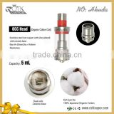 New arriving Hkuda dual coils Occ head ceramic base with RBA section PK arctic sub ohm tank