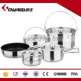 Factory Wholesale Induction Surgical Palm Restaurant Camping Stainless Steel Cookware Set Kitchen
