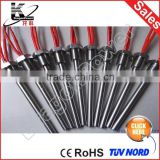 High temperature high density cartridge heater tubular heating element with ceramic terminal