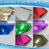 High Temperature Resistance 1.52x20m Car Adhesive Car Vinyl Wrapping Chrome Car Body Wrap