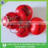 Advertising Logo PU Heart Shape Stress Ball Key Rings