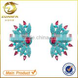 women micro pave nano turquoise zirconia cuff earrings turquoise silver jewelry                                                                                                         Supplier's Choice