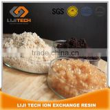 Food grade strong acid cation ion exchage resin polymer equivalent of Amberlite IRA-120, Dowex 50, KY2-8, Diaion SK-IA