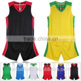 2016 Custom top quality cheap kids blank basketball jerseys breathable sportswear Training uniforms