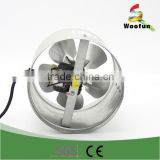 In line reversible duct fan