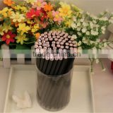 round black wooden HB pencil/crystal diamonds pencil/shine diamonds /50pc in pvc tube/kids gifts