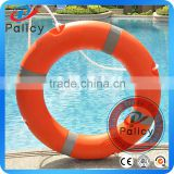 SOLAS orange life saving buoy, lifebuoy ring with reflective tape