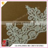HC-1826-1 Hechun Hand Embroidery Designs Crochet Pearl Beaded Lace Trim