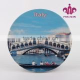 custom design ceramic tourist souvenir plates decorative plate
