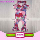 Newborn Baby Clothes Floral Romper Kids One Pieces Baby Jumpsuits Short Sleeve Long Leg Romper