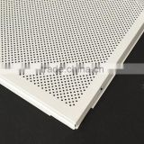 Sound-absorption Acoustic 600x600 Modern Perforated Metal Frame Suspended False Ceiling White Color