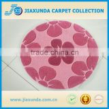 Round shape with flower pattern indoor child floor rug