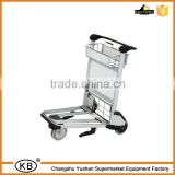 Industrial Luggage Airport Trolley with brake ( Handle released brake ) ( Wheel For elevator )