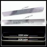 for BMW X6 E71 2010-2014 door sill plate light accessory CE-certificate waterproof LED moving door scuff light